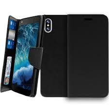 apple iphone x leather case clip folio for apple iphone x apple iphone x kickstand wallet case in stylish black pu leather folio case for apple iphone x