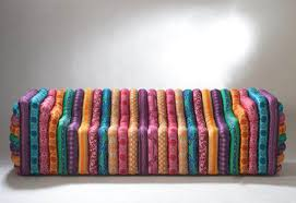 Versace Living Room Furniture Multi Colour Striped Bubble Sofa From Versace Home Fab Home