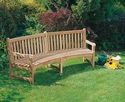 curved garden bench. Connaught Teak Curved Garden Bench - 2.2m
