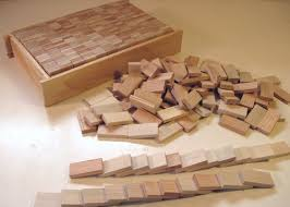 Homemade Wooden Games Making wooden domino blocks 60