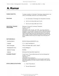 Resumes For Mba Finance Freshers Resume Study Format In Marketing