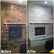 17 best ideas about white washed fireplace on brick