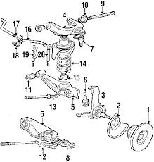 parts com® volkswagen vanagon front suspension oem parts 1991 volkswagen vanagon base h4 2 1 liter gas front suspension