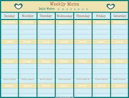 Free Menu Planning Printable Lisa Organizes Life