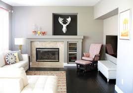 Art Gallery Wall Ideas Above Fireplace For Small Family Room Design