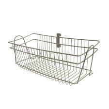 closetmaid shelftrack 19 5 in x 8 4 in nickel wire basket