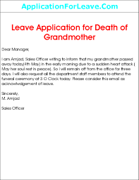 Leave Letter Sample Request Letter For Leave Of Absence From School