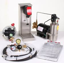 1 flavor tower soda fountain system with cold plate