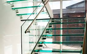 half turn staircase straight glass frame glass steps ery by r w oxley