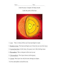 parts of the sun earth science chapter 26 study guide