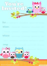 Diy Invitation Template Diy Owl Invitation Template Metabots Co