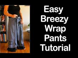 Wrap Pants Pattern Delectable ▻▻Easy Breezy Wrap Pants Tutorial ✡✡ Secret Tips ✡✡ YouTube