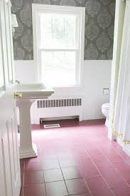 before of bathroom before ceramic floor tiles were painted gray such a huge