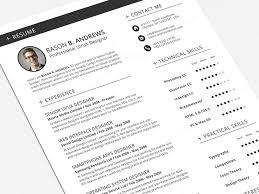 Swiss Style Resume Cv Full Set Template By Daniel E Graves