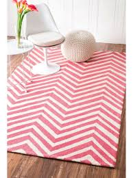 8 6 x 11 6 hand hooked chevron area rug pink r