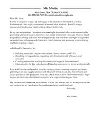 Cover Letter For Job Example 5 Administrative Assistant