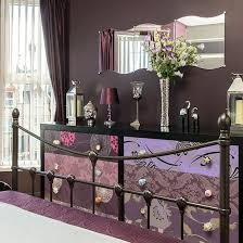 Brown Bedroom With Bold Patterned Storage
