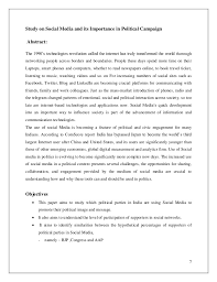 Political Campaign Resume Sample Best of Research On Social Media And Its Importance In Political Campaign