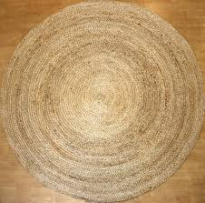 round jute rug color