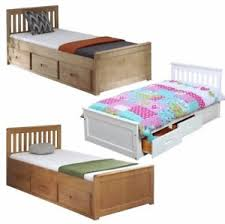 kids single bed with storage. Unique With Image Is Loading KidsBedChildrensBedStorageDrawersWhiteWooden Inside Kids Single Bed With Storage P
