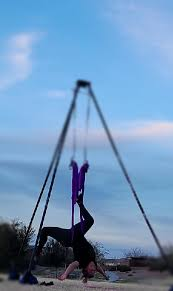 the upside down of aerial yoga