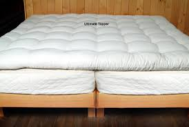 quilted mattress pad. Plain Quilted Ultimate Wool Mattress Topper On Quilted Mattress Pad E