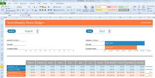 excel template monthly budget semi monthly budget template for excel 2013