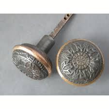 Antique Single Pair of Eastlake Windsor Design Cast Iron Brass