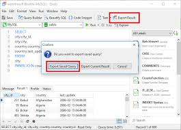 Can I export query results and set schedule? – Navicat