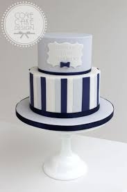 Blue Birthday Cake Designs Blue And Navy Stripe Male Birthday Cake Birthday Cakes For