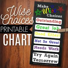 Wise Choices Discipline Chart Printable Arrows Applesauce