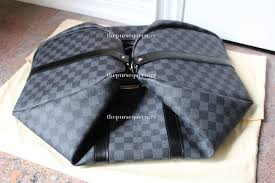 louis vuitton new. this review of my new louis vuitton damier graphite keepall 45 is the third in a series reflecting summer \u002717 replica haul.