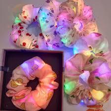 Scrunchies SOPHIE dây cột tóc scrunchies ĐÈN LED -dây srunchies phát sáng -  shop chuyên sỉ lẻ giá cạnh tranh