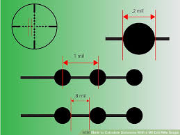 Mil Dot Chart Pdf How To Calculate Distances With A Mil Dot Rifle Scope 7 Steps