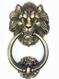 unidecor large antique lion door knocker lion head door handle amazon