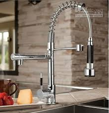 Chic Kitchen Sink Faucets Best Chrome Brass Pull Out Spray Kitchen