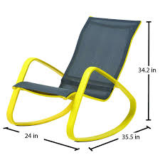 outdoor sling chairs. Best Royal Garden Eero Aluminum Outdoor Sling Rocking Chair Yellow Pic For And Samsonite Style Chairs