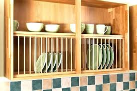wall mounted wooden plate drying rack wood racks beautiful french style antique in cupboard kitchen storage