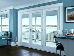 catalog image of a andersen french patio doors pella with built in blinds replacement hinged