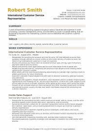 customer service summary for resumes international customer service representative resume samples