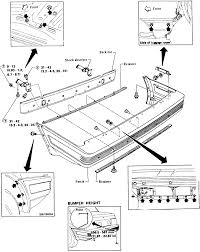 4 rear bumper assembly exploded view 1983 86 pulsar