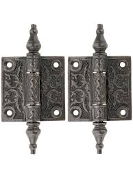antique cabinet hinges. pair of decorative cast iron cabinet hinges - x surface hinges. wright company, inc. antique