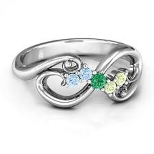 infinity mothers ring. flourish infinity mother\u0027s ring with gemstones mothers