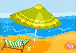 beach cartoon stock vector 16419023
