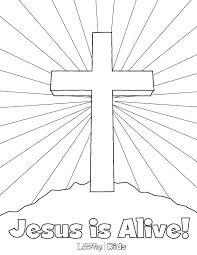 Easter Coloring Sheets For Kids Religious Easter Clip Preschool