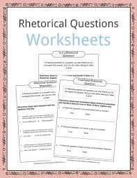 Clear Light Of Day Questions And Answers Rhetorical Question Worksheets Examples Definition For Kids