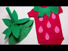 How To Baby Strawberry Costume Diy No Sewing Required
