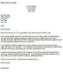 Cover Letter For Admin Clerk Cover Letter Examples For Clerk Position Office Clerk Cover Letter