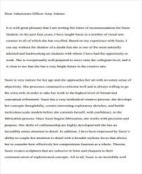 Writing A College Recommendation Letter For College Admissions Sample Parent Recommendation Letter College Admission