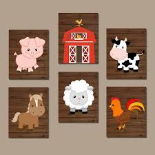 farm animal canvas wall art
